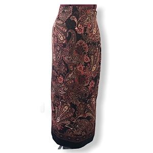 Vintage Briggs New York Faux Suede Paisley Skirt